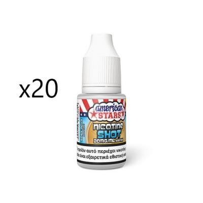 x20 American Stars Nicotine Booster 50/50 10ml 20mg